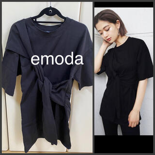 EMODA - EMODA エモダ レディース トップス タイオーバーTシャツ 半袖
