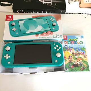 ニンテンドースイッチ(Nintendo Switch)のNintendoSwitchLite ターコイズ あつ森セット(携帯用ゲーム機本体)