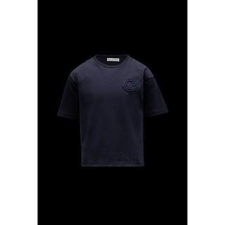 モンクレール(MONCLER)の⭐2022AW/新品 MONCLER   クルーネックTシャツ ネイビー 14A(Tシャツ(半袖/袖なし))