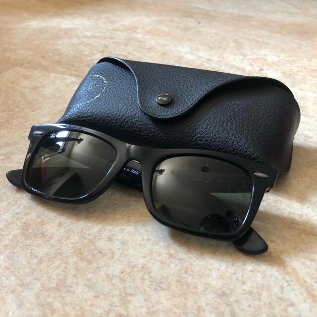Ray-Ban(レイバン)のRay-Ban レイバン/ウェイファーラー 保存ケース付 正規店購入 ブラック メンズのファッション小物(サングラス/メガネ)の商品写真