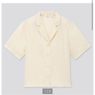ユニクロ(UNIQLO)のユニクロ リネンブレンドオープンカラーシャツ(シャツ/ブラウス(半袖/袖なし))