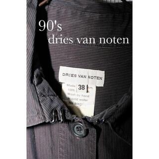 ドリスヴァンノッテン(DRIES VAN NOTEN)の90's dries van noten ブラックストライプシャツ アーカイブ(シャツ/ブラウス(半袖/袖なし))