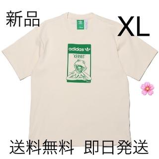 新品未使用 XLサイズ アディダス カーミット 半袖 Tシャツ ホワイト