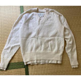 Maison Martin Margiela - Maison Margiela マルジェラ 白 ニット セーター S ホワイト