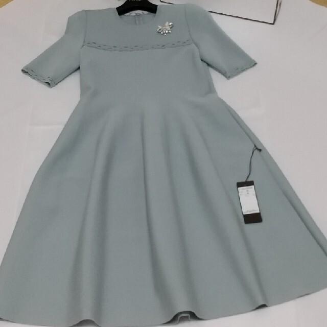 "FOXEY(フォクシー)のFOXEY新品未使用🍀銀座限定Knit Dress""Torte""38  レディースのワンピース(ひざ丈ワンピース)の商品写真"