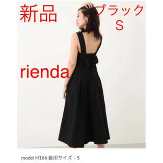 rienda - 【新品タグ付】rienda バックリボンワンピース