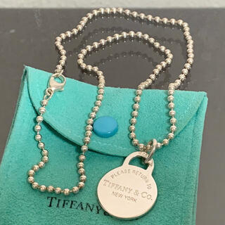 Tiffany & Co. - ティファニー ネックレス ペンダント リターントゥ タグ ボール チェーン