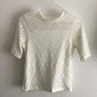 マジェスティックレゴン(MAJESTIC LEGON)のレースTシャツ(ホワイト)(シャツ/ブラウス(半袖/袖なし))