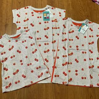 Design Tshirts Store graniph - グラニフ  ツペラツペラ さくらんぼ チュニック