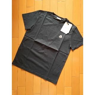 モンクレール(MONCLER)の⭐2022AW/新品 MONCLER   ロゴマークTシャツ ブラック 14A(Tシャツ(半袖/袖なし))