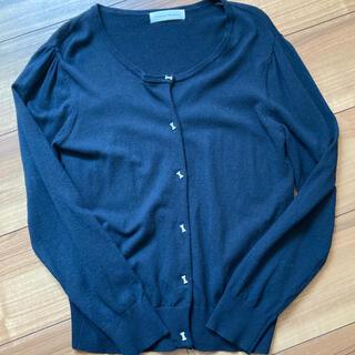 クチュールブローチ(Couture Brooch)のクチュールブローチのリボンモチーフボタンカーディガン(カーディガン)