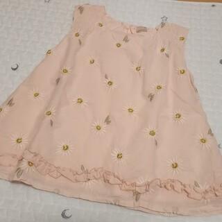 プティマイン(petit main)のプティマイン 花刺繍チュニック120(Tシャツ/カットソー)