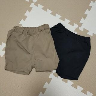 ムジルシリョウヒン(MUJI (無印良品))の※kmkさま専用※無印良品/ハーフパンツ80サイズ2枚セット(パンツ)