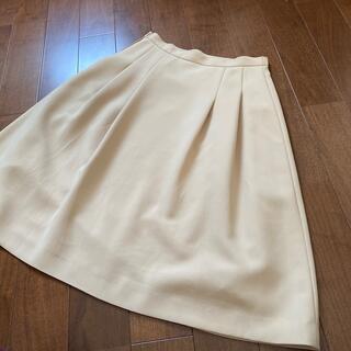 クレージュ(Courreges)のクレージュ  上品 スカート  ベージュ 40(ひざ丈スカート)
