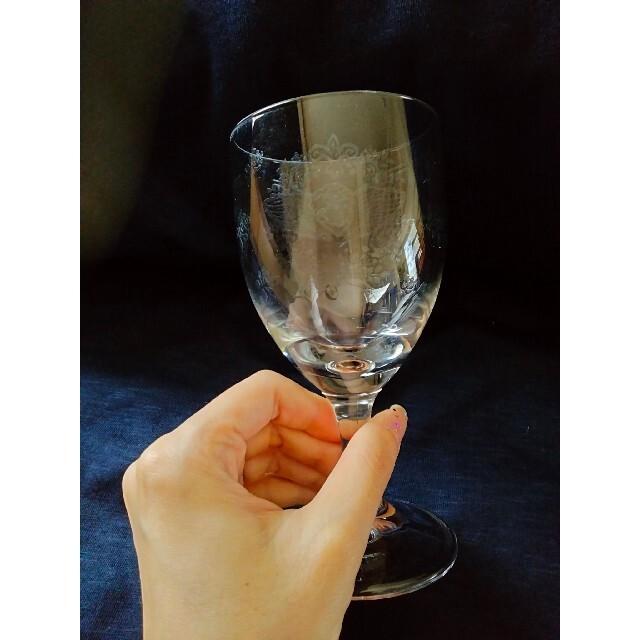 ワイングラス3個セット♡ビール♡カクテル♡透かし彫り風♡エッチング風 インテリア/住まい/日用品のキッチン/食器(食器)の商品写真