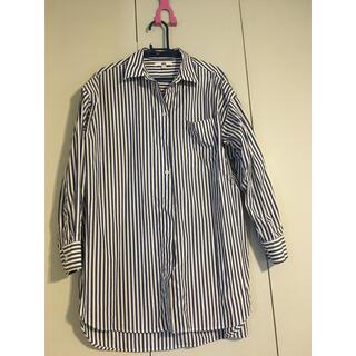 ユニクロ(UNIQLO)のユニクロ ストライプ シャツ(シャツ/ブラウス(半袖/袖なし))