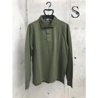 ダブルアールエル(RRL)の新品 RRL ダブルアールエル ラガーシャツ ポロシャツ ロンT カットソー S(ポロシャツ)