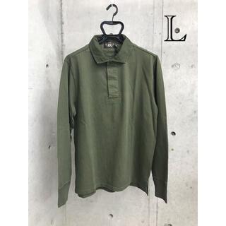 ダブルアールエル(RRL)の新品 RRL ダブルアールエル ラガーシャツ ポロシャツ ロンT カットソー L(ポロシャツ)