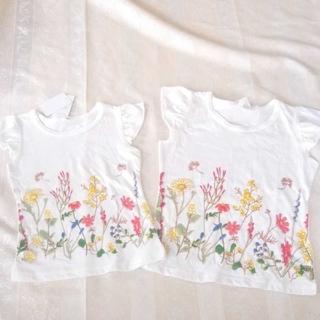 【新品】姉妹お揃い Tシャツ ボタニカル 120 100