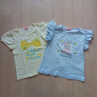 ベベ(BeBe)のTシャツ2枚 + スカート 130(Tシャツ/カットソー)