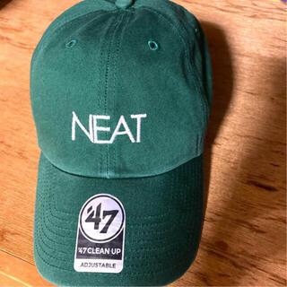 コモリ(COMOLI)の47 ニート NEAT グリーン CAP キャップ(キャップ)