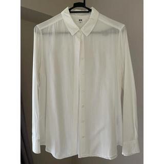 UNIQLO - 送料無料 ユニクロ ホワイト シャツ 着用回数2回