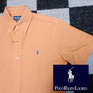 Ralph Lauren - 【ラルフローレン】半袖BDシャツS170cm(430)オレンジオックスフォードポ