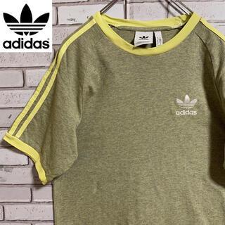 アディダス(adidas)の90s 古着 アディダス リンガーTシャツ 刺繍ロゴ トレフォイルロゴ 常田大希(Tシャツ/カットソー(半袖/袖なし))