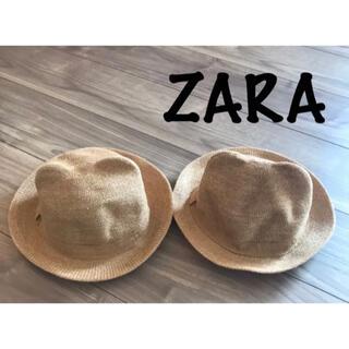 ザラキッズ(ZARA KIDS)のZARA ザラ キッズ クマさん耳がかわいい麦わら帽子 セット ハット(帽子)