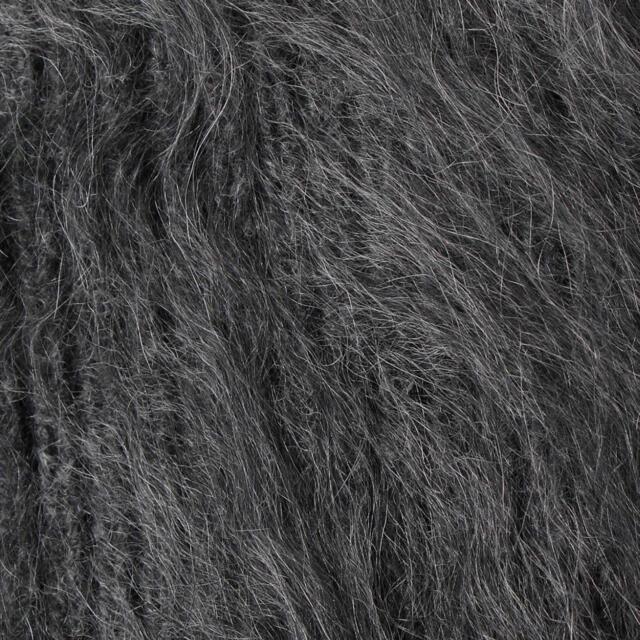 Drawer(ドゥロワー)のブラミンク  カシミヤファー7Gニット ダークグレー38 新品 blamink レディースのトップス(ニット/セーター)の商品写真