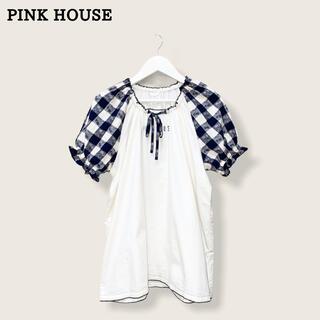 ピンクハウス(PINK HOUSE)の【PINK  HOUSE】チェックブラウス ピンクハウス(シャツ/ブラウス(半袖/袖なし))