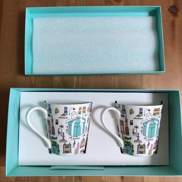 Tiffany & Co.(ティファニー)のティファニー  ペア マグカップ 5thアベニュー インテリア/住まい/日用品のキッチン/食器(グラス/カップ)の商品写真