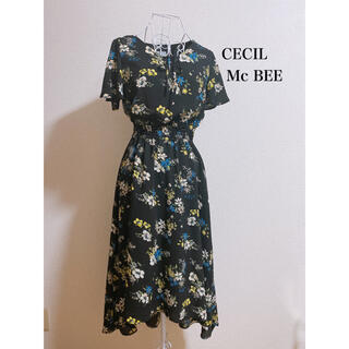 セシルマクビー(CECIL McBEE)の花柄ワンピース ロングワンピース(ロングワンピース/マキシワンピース)