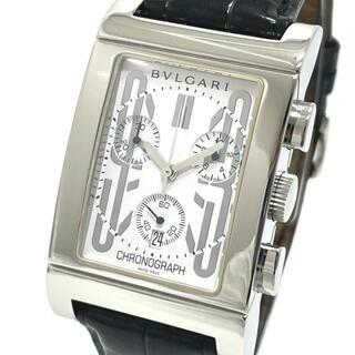 BVLGARI - ブルガリ RTC49S デイト レッタンゴロ クロノグラフ クオーツ 腕時計