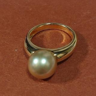 タサキ(TASAKI)のTASAKI タサキ ゴールデンパール リング  南洋白蝶真珠(リング(指輪))