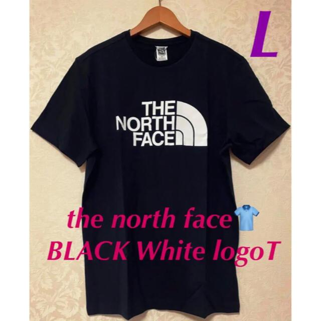 THE NORTH FACE(ザノースフェイス)の超人気王道ノースフェイス Tシャツ ブラック 白ロゴ 海外 L 実寸XL‼️ メンズのトップス(Tシャツ/カットソー(半袖/袖なし))の商品写真