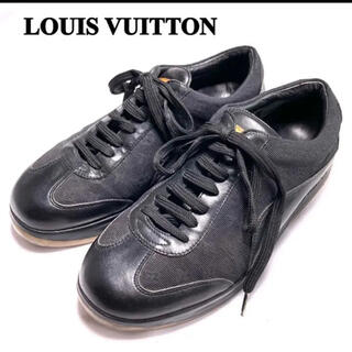 ルイヴィトン(LOUIS VUITTON)の【LOUIS VUITTON】ルイヴィトン スニーカー モノグラム レザー 黒(スニーカー)