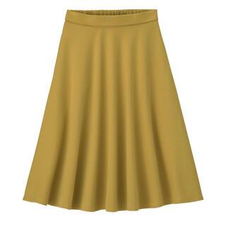 ジーユー(GU)のGU ポンチフレアスカート Mサイズ レディース(ひざ丈スカート)
