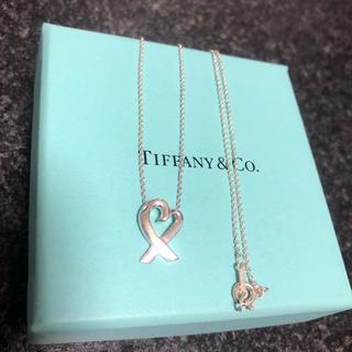 Tiffany & Co. - 【美品】ティファニー ラビングハート ネックレス