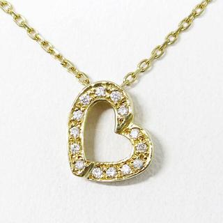 ジュエリーマキ(ジュエリーマキ)のK18 ダイヤモンド ハート ネックレス 約36cm(ネックレス)
