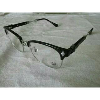 クロムハーツ(Chrome Hearts)のクロムハーツ伊達メガネ ブラックシルバー 男女兼用(サングラス/メガネ)