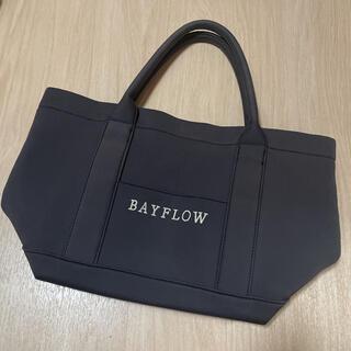 ベイフロー(BAYFLOW)のベイフロー BAYFLOW トートバックM 黒 裏地星柄(トートバッグ)
