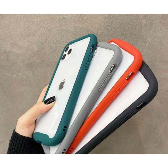 フィルム付iPhone7 8 SE2 黒  透明 iFace風 韓国 カバー スマホ/家電/カメラのスマホアクセサリー(iPhoneケース)の商品写真