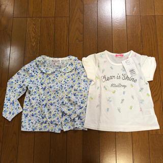 ベベ(BeBe)の新品 キスドロップ半袖Tシャツ サイズ110 bebe& 104 マザウェイズ(Tシャツ/カットソー)