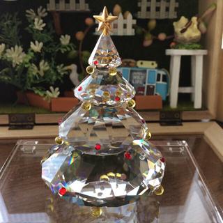スワロフスキー(SWAROVSKI)のスワロフスキー 置物 クリスマスツリー(置物)