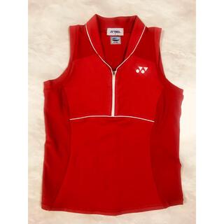 ヨネックス(YONEX)のYONEX ユニフォーム レディース シャツ 赤 Mサイズ(バドミントン)