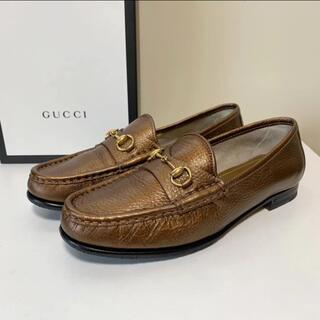 グッチ(Gucci)の☆美品 グッチ GUCCI レザー ビット ローファー シューズ イタリア製(ローファー/革靴)