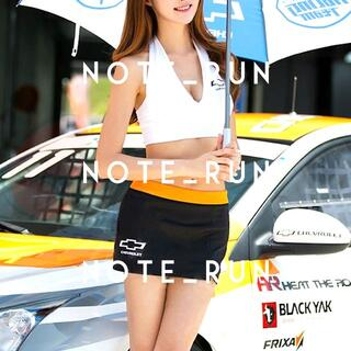 【xcv】コスチューム RQ レースクイーン 衣装 白・黒・橙(衣装一式)