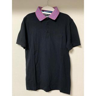 ラフシモンズ(RAF SIMONS)のRaf Simons×Fred Perry ポロシャツ 二重襟 ブラック 38(ポロシャツ)