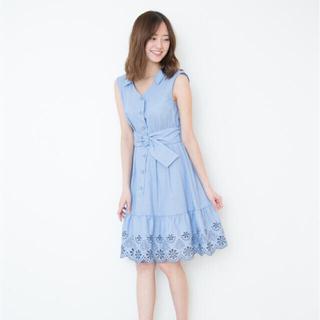 JILL by JILLSTUART - ジルバイジルスチュアート カットワークシャツドレス ブルー